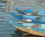 Guardian Eyes - Boats on the Thu Bon river, Hoi An, Viet Nam