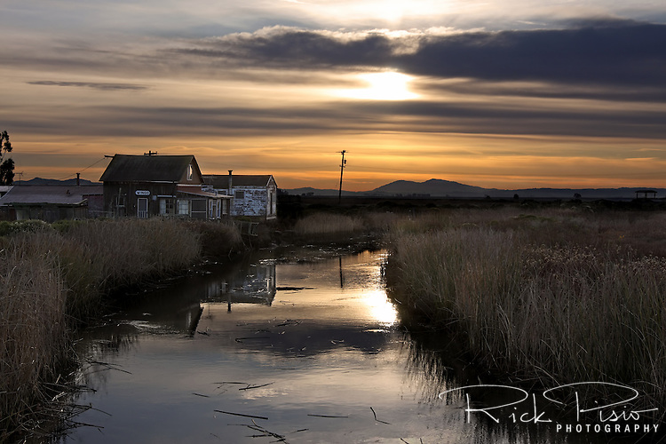 Sitting in the marshes north of San Pablo Bay, east of Schellvile California, along the banks of Sonoma Creek, sits the tiny ghost town of Wingo. Now home to a handful of residents, Wingo was once a railroad connection point for visitors arriving by steam boat from San Francisco.