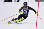 FRANCONIA, NH - MARCH 11:  Alex Leever of the University of Denver participates in the men's Slalom at the Division I Men's and Women's NCAA Skiing Championships held at Jackson Ski Touring on March 11, 2017 in Jackson, New Hampshire. (Photo by Gil Talbot/NCAA Photos via Getty Images)