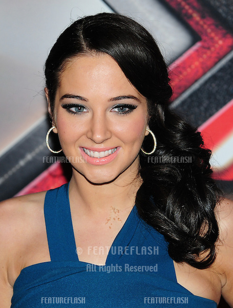 Tulisa Contostavlos arriving for the final of The X Factor 2011 at Wembley Arena in London. 10/12/201. Picture by: Simon Burchell / Featureflash.