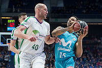 Movistar Estudiantes Sylven Landesberg and Unicaja Malaga  James Augustine during Liga Endesa match between Movistar Estudiantes and Unicaja Malaga at Wizink Center in Madrid , Spain. March 04, 2018. (ALTERPHOTOS/Borja B.Hojas) /NortePhoto.com NORTEPHOTOMEXICO