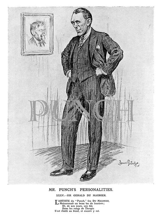 Mr Punch's Personalities. XXXV. - Sir Gerald Du Maurier.