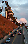 The California Incline connects Santa Monica with the Pacific Coast Highway in Los Angeles, CA