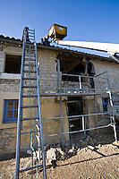 Rebuilding Gite holiday home Charente region France..©shoutpictures.com..john@shoutpictures.com.