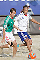 (L-R) Antonio Barbosa (MEX), Shinji Makino (JPN), SEPTEMBER 02, 2011 - Beach Soccer : FIFA Beach Soccer World Cup Ravenna-Italy 2011 Group D match between Japan 2-3 Mexico at Stadio del Mare, Marina di Ravenna, Italy, (Photo by Enrico Calderoni/AFLO SPORT) [0391]
