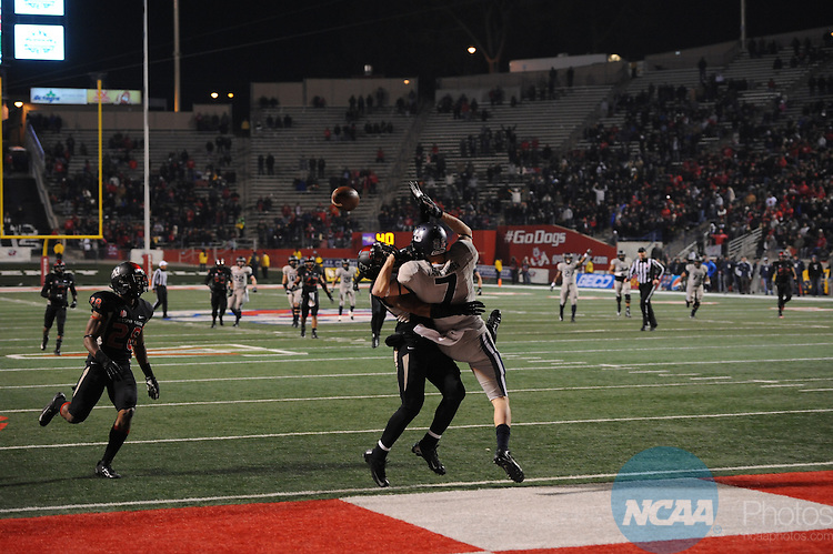 07 DEC 2013:  Fresno State University takes on Utah State University during the Mountain West Conference football championship game at Bulldog Stadium in Fresno, CA. Justin Tafoya/NCAA Photos