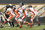 Palos Verdes, CA 09/22/11 - unknown Beverly Hills player(s) in action during the Beverly Hills vs Peninsula Junior Varsity football game.
