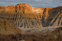 Mesas formed through erosion at Capital Reef National Park, Utah