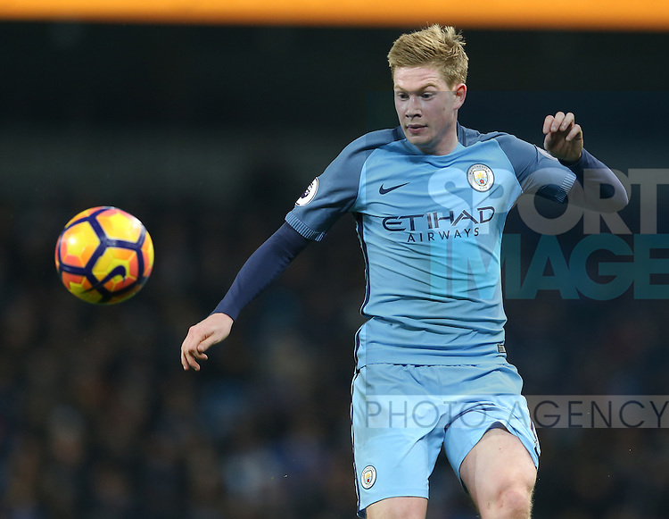 Kevin De Bruyne of Manchester City during the English Premier League match at the Etihad Stadium, Manchester. Picture date: December 18th, 2016. Picture credit should read: Simon Bellis/Sportimage