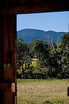 vista da janela com paisagem natural ao fundo - Paisagens brasileiras.