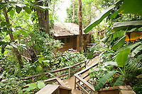 Caves Branch, Belize, May 2012. Adventure is what Ian Anderson's Caves Branch is all about. Over the years, the Caves Branch jungle lodge has evolved from extremely rustic Jungle River Camp with outhouses and bathing in the river to 5 Star Luxury Tree Houses with roof top decks and hot tubs to relax under the stars above. Photo by Frits Meyst/Adventure4ever.com