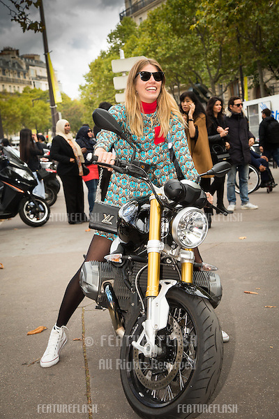 Unknown guest attends Miu Miu Show Front Row - Paris Fashion Week  2016.<br /> October 7, 2015 Paris, France<br /> Picture: Kristina Afanasyeva / Featureflash