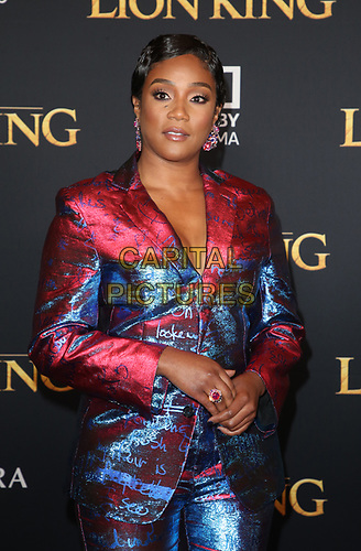 HOLLYWOOD, CA - JULY 9: Tifffany Haddish at The Lion King Film Premiere at El Capitan Theatre in Hollywood, California on July 9, 2019. <br /> CAP/MPIFS<br /> ©MPIFS/Capital Pictures