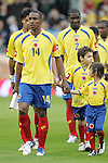 29 May 2008: Luis Amaranto Perea (COL) leads the Colombia team onto the field. The Republic of Ireland Men's National Team defeated the Colombia Men's National Team 1-0 at Craven Cottage in London, England in an international friendly soccer match.