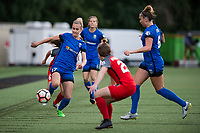 Seattle, WA - Saturday, July 1, 2017:  Beverly Yanez during a regular season National Women's Soccer League (NWSL) match between the Seattle Reign FC and the Portland Thorns FC at Memorial Stadium.