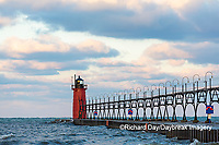 64795-02501 South Haven Lighthouse early morning South Haven,  MI