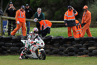 PHILLIP ISLAND, 27 FEBRUARY - Jonathan Rea (GBR) riding the Honda CBR1000RR (4) of the Castrol Honda Team leaves the track during race one of round one of the 2011 FIM Superbike World Championship at Phillip Island, Australia. (Photo Sydney Low / syd-low.com)