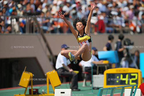 Sachiko Mashumi (JPN), MAY 5, 2013 - Athletics : SEIKO Golden Grand Prix in Tokyo, Women's Long Jump at National Stadium, Tokyo, Japan. (Photo by AFLO SPORT)