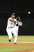 Glendale Desert Dogs infielder Tim Anderson (7) during an Arizona Fall League game against the Surprise Saguaros on October 9, 2014 at Camelback Ranch in Phoenix, Arizona.  Surprise defeated Glendale 7-4.  (Mike Janes/Four Seam Images)