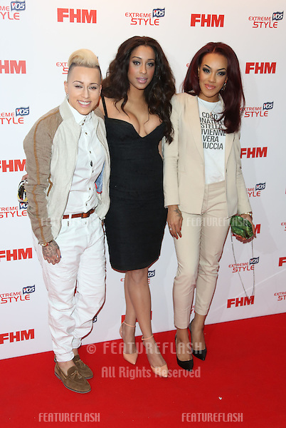 Stooshe arriving for the FHM 100 Sexiest Women in the World 2013 party at the Sanderson Hotel, London. 01/05/2013 Picture by: Henry Harris / Featureflash