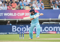 Jonny Bairstow (England) guides to third man during Australia vs England, ICC World Cup Semi-Final Cricket at Edgbaston Stadium on 11th July 2019