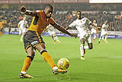 3rd November 2017, Molineux, Wolverhampton, England; EFL Championship football, Wolverhampton Wanderers versus Fulham; Ivan Cavaleiro of Wolverhampton Wanderers cuts the ball back into the box