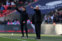 Newcastle United manager Rafa Benítez and Tottenham Hotspur manager Mauricio Pochettino during Tottenham Hotspur vs Newcastle United, Premier League Football at Wembley Stadium on 2nd February 2019