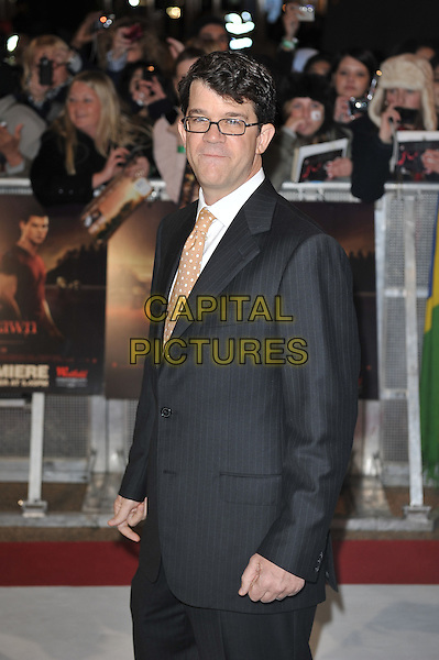 Wyck Godfrey.'The Twilight Saga: Breaking Dawn - Part 1' UK film premiere at Westfield Stratford City, London, England..16th November 2011.half length black suit jacket glasses .CAP/MAR.© Martin Harris/Capital Pictures.
