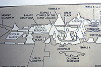 World Civilization:  Maya--Tikal, diagram of Eastern 2/3 of Temple Ensembles.  NATIONAL GEOGRAPHIC, Dec. 1975.