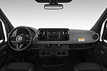 Stock photo of straight dashboard view of a 2019 Mercedes Benz Sprinter-Cargo-Van Base 4 Door Cargo Van