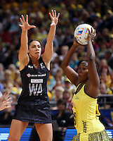 11.08.2015 Silver Ferns Grace Rasmussen in action during the Silver Ferns v Jamaica netball match at the 2015 Netball World Cup at All Phones Arena in Sydney Australia. Mandatory Photo Credit ©Michael Bradley.