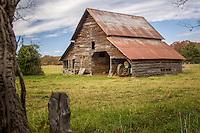 An old barn in rural Arkansas.
