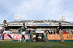 16 May 2015: New York players take the field for warmups. The Carolina RailHawks hosted the New York Cosmos at WakeMed Stadium in Cary, North Carolina in a North American Soccer League 2015 Spring Season match. The game ended in a 2-2 tie.