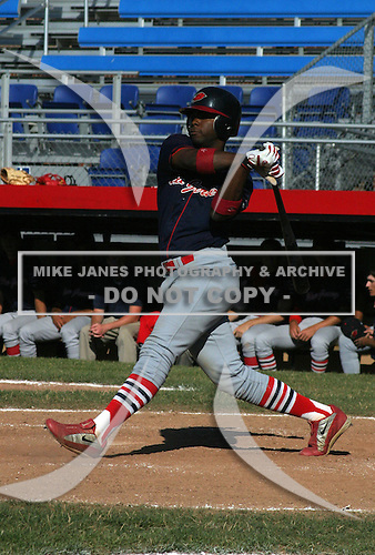 July 13, 2003:  Melvin Falu of the New Jersey Cardinals during a game at Russell Diethrick Park in Jamestown, New York.  Photo by:  Mike Janes/Four Seam Images