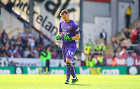 Arsenal's Bernd Leno celebrates after his side went 2-0 up<br /> <br /> Photographer Alex Dodd/CameraSport<br /> <br /> The Premier League - Burnley v Arsenal - Sunday 12th May 2019 - Turf Moor - Burnley<br /> <br /> World Copyright &copy; 2019 CameraSport. All rights reserved. 43 Linden Ave. Countesthorpe. Leicester. England. LE8 5PG - Tel: +44 (0) 116 277 4147 - admin@camerasport.com - www.camerasport.com