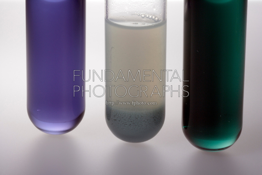 CHROMIUM (III) HYDROXIDE- EXAMPLE OF AMPHOTERISM.3 Oxidation States of Chromium<br /> The center test tube contains a 0.1M solution of Cr(NO3)3 to which 1.0M NaOH has been added to form a suspension of Cr(OH)3. (Left) adding 6M HCl produces violet Cr3+ ion &amp; (right) adding an excess of NaOH forms the green [Cr(OH)4]B ion.