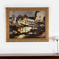 "Currier & Ives: The Splendid Naval triumph of the Mississippi, April 24 1862, Digital Prints, Image Dims. 34"" x 45"", Framed Dims. 44"" x 54"""