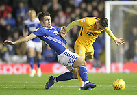 Preston North End's Alan Browne in action with Birmingham City's Gary Gardner <br /> <br /> Photographer Mick Walker/CameraSport<br /> <br /> The EFL Sky Bet Championship - Birmingham City v Preston North End - Saturday 1st December 2018 - St Andrew's - Birmingham<br /> <br /> World Copyright © 2018 CameraSport. All rights reserved. 43 Linden Ave. Countesthorpe. Leicester. England. LE8 5PG - Tel: +44 (0) 116 277 4147 - admin@camerasport.com - www.camerasport.com