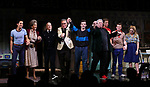 "Michael Hsu Rosen, Mercedes Ruehl, Richard Jackson, Moises Kaufman, Harvey Fierstein, Michael Urie, Ward Horton, Jack DiFalco and Roxanna Hope Radja  during the Broadway Opening Night Curtain Call for ""Torch Song"" at the Hayes Theater on November 1, 2018 in New York City."