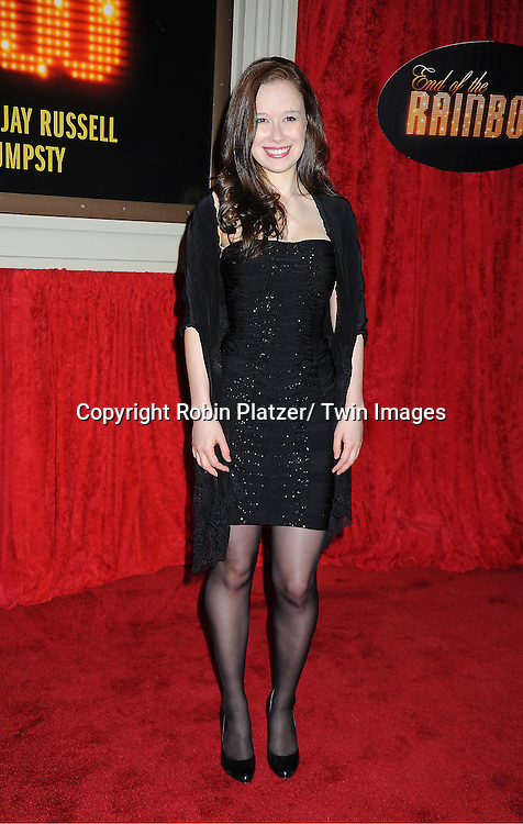"Molly Ranson arrives at the ""End Of The Rainbow"" Broadway opening night at The Belasco Theatre in New York City on April 2, 2012. The show stars Tracie Bennett, Tom Pelphrey, Michael Cumptsy and Jay Russell."
