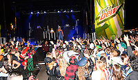 Timeflies entertains the FreakFest crowd on the Madison State Capitol / Mountain Dew stage Saturday during Freakfest 2015 on State Street in Madison, Wisconsin