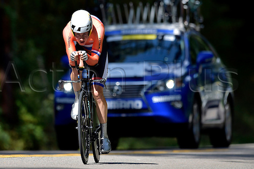 23.09.2015. Richmond, Virginia, USA. World Championship Cycling, Mens Elite time trials.  Wilco Kellerman of The Netherlands pictured during the individual Time Trial Elite men at the UCI Road World Cycling Championships in Richmond, United States of America