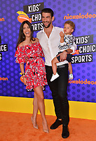 Michael Phelps, Nicole Johnson & Boomer Phelps at the Nickelodeon Kids' Choice Sports Awards 2018 at Barker Hangar, Santa Monica, USA 19 July 2018<br /> Picture: Paul Smith/Featureflash/SilverHub 0208 004 5359 sales@silverhubmedia.com