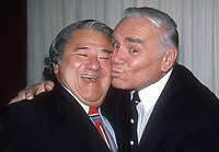 Buddy Hacket and Ernest Borgnine 1982<br /> Photo By Adam Scull/PHOTOlink.net /MediaPunch