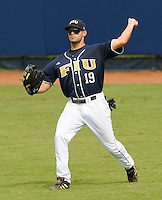 24 February 2008: Florida International right fielder John Petika (19) throws back to the infield in the Southern California 12-7 victory over FIU at University Park Stadium in Miami, Florida.