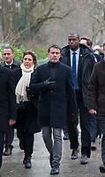 January 7 2018, PARIS FRANCE<br /> Commemorative Ceremony of the 7 january<br /> 2015 terrorist attacks against Charlie Hebdo newspaper in Paris. Manuel Valls is present. # CEREMONIES D'HOMMAGE AUX VICTIMES DES ATTENTATS DE CHARLIE HEBDO ET DE L'HYPER CACHER