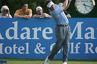Lee Westwood drives off on the 18th tee during the first round of the 2008 Irish Open at Adare Manor Golf Resort, Adare,Co.Limerick, Ireland 15th May 2008 (Photo by Eoin Clarke/GOLFFILE)