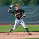 12 July 2015: West Virginia Black Bears infielder Erik Forgione in action against the Vermont Lake Monsters at Centennial Field in Burlington, Vermont. The Lake Monsters rallied to defeat the Black Bears 5-4 in NY Penn League action. Mandatory Credit: Ed Wolfstein Photo *** RAW Image File Available ****