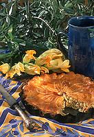 """France/06/Alpes Maritimes/Nice/Arrière pays niçois: Tourte aux fleurs de courge - Recette du chef de l'auberge """"Saint-Jean"""""""