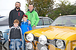 James O'Shea with his two sons David and James and his brother Benny at the Charity Car Run in aid of the Kerry/Cork Health Link Bus at The Brehon last Sunday.